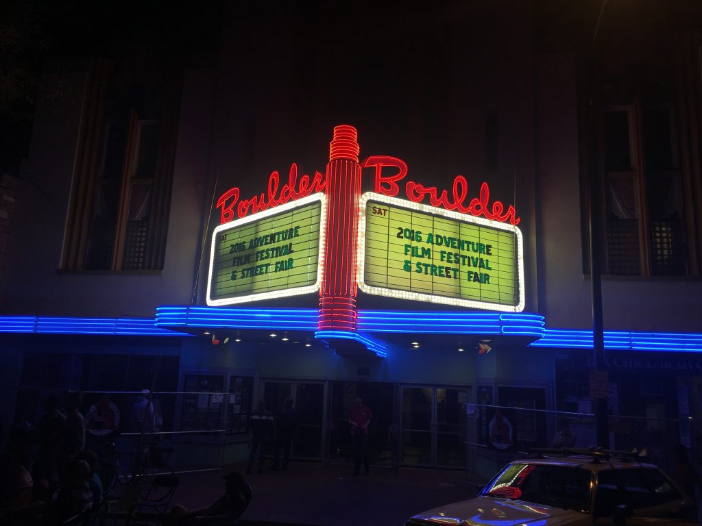 Adventure Film Festival marquee
