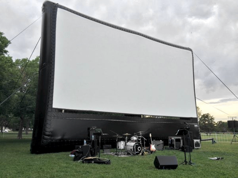 40' AIRSCREEN inflatable screen