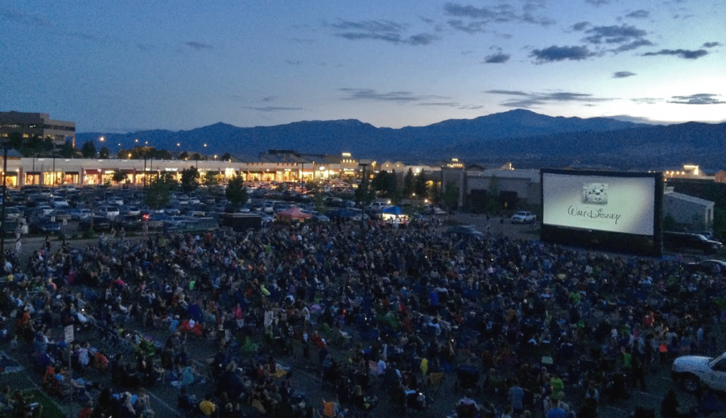 40' airscreen briargate huge outdoor movie crowd